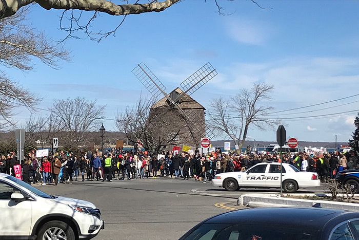 2018 March for Our Lives for gun control in Sag Harbor