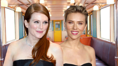 Julianne Moore and Scarlett Johansson rode the Hamptons Subway this week