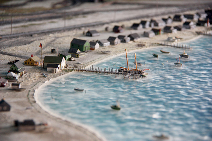 A model of Fort Pond Bay in Montauk
