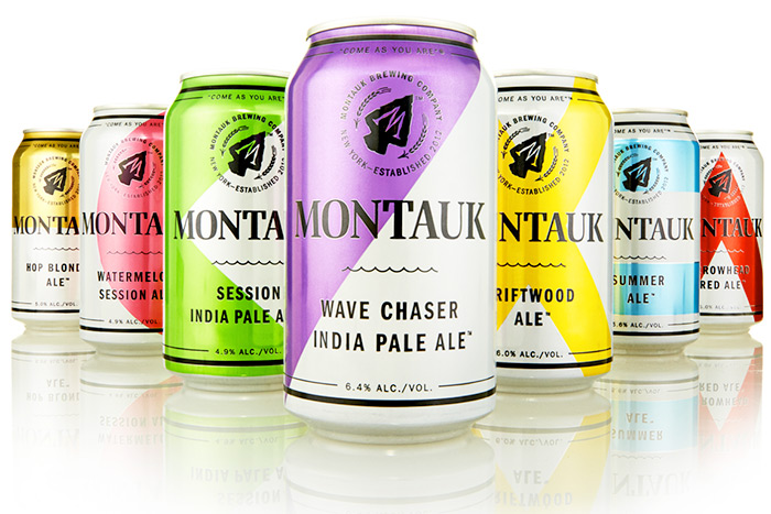 Montauk Brewing Company beer cans