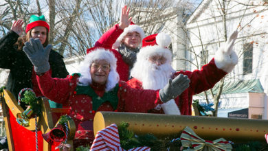 From the North Pole to the South Fork—Santa comes to say ho ho hello