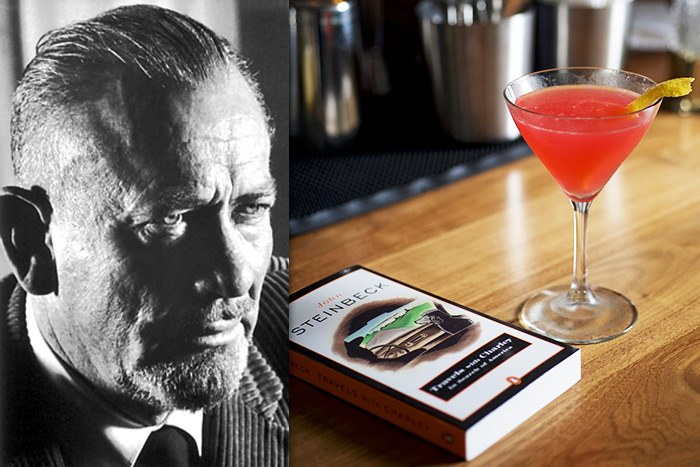 Try John Steinbeck's Jack Rose cocktail at Baron's Cove
