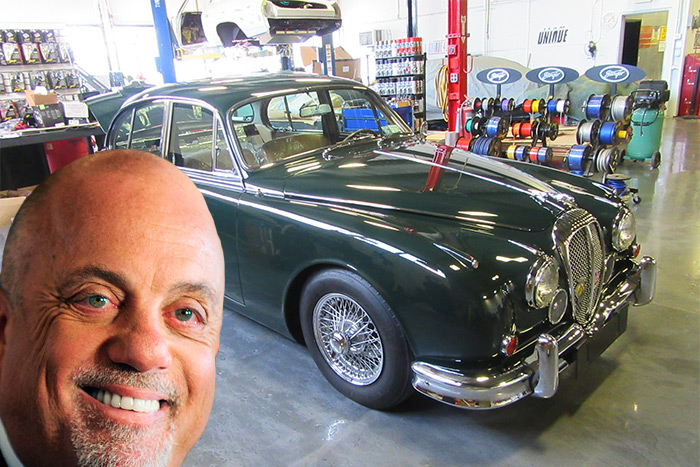 "Billy Joel is getting his 1962 Jaguar Mark II on Velocity's ""Unique Rides"""
