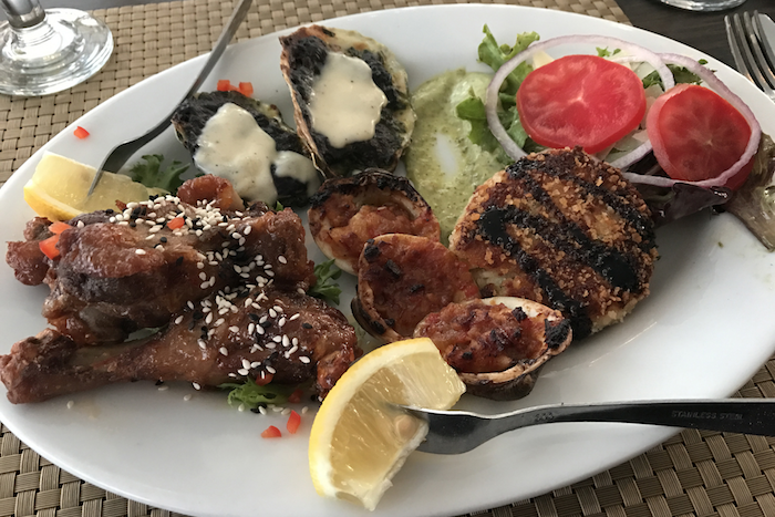 Appetizers from Pace's Dockside