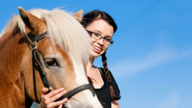 teen girl with horse
