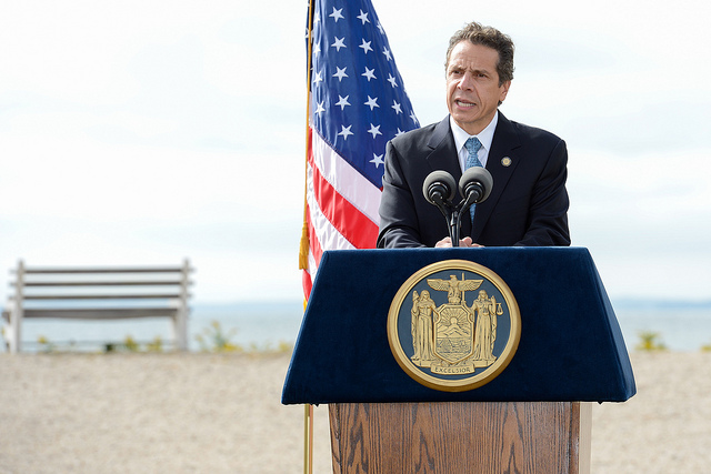 Governor Andrew Cuomo in Orient demands a plan for environmental assessment and cleanup at Plum Island
