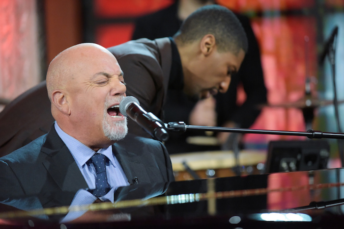 The Late Show with Stephen Colbert and guest Billy Joel during Monday's 01/09/16 show in New York