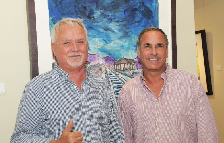 Gene Luntz (long-time manager of artist Peter Max) with wealth manager Jeffrey Wolfe