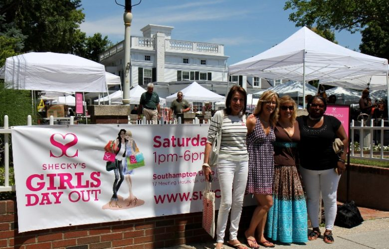 Rita Lerner, Michelle Di Pietro, Melissa Guido and Cynthia White, looking forward to Shecky's Girls Day Out.