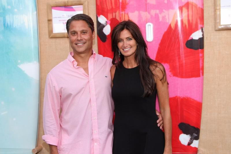 Event Co-Chairs Hamptons Paddle and Party for Pink-Sunset Cocktail Party Larry and Maria Baum