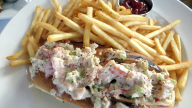 75 Main Lobster Roll and fries.