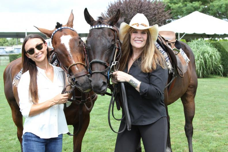 Georgina Bloomberg and Jill Rappaport at the the ASPCA Adoption and Animal Welfare Day.
