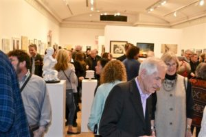 The 2018 Guild Hall Artist Members Exhibition drew a large crowd, as always.