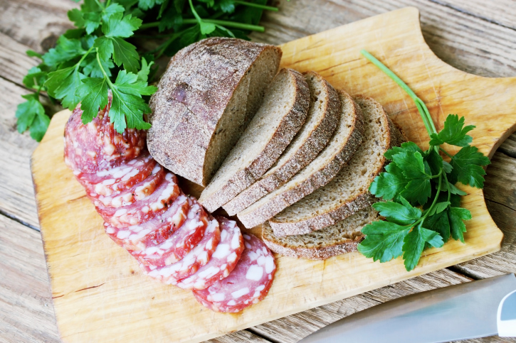 sausage with bread charcuterie