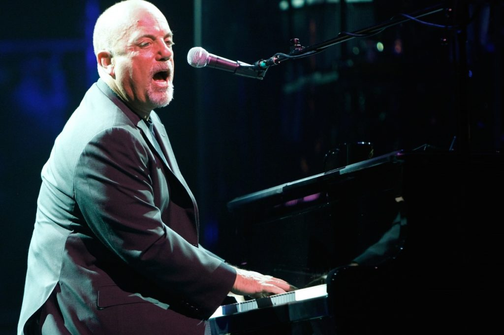 Billy Joel on an ivory-free piano.