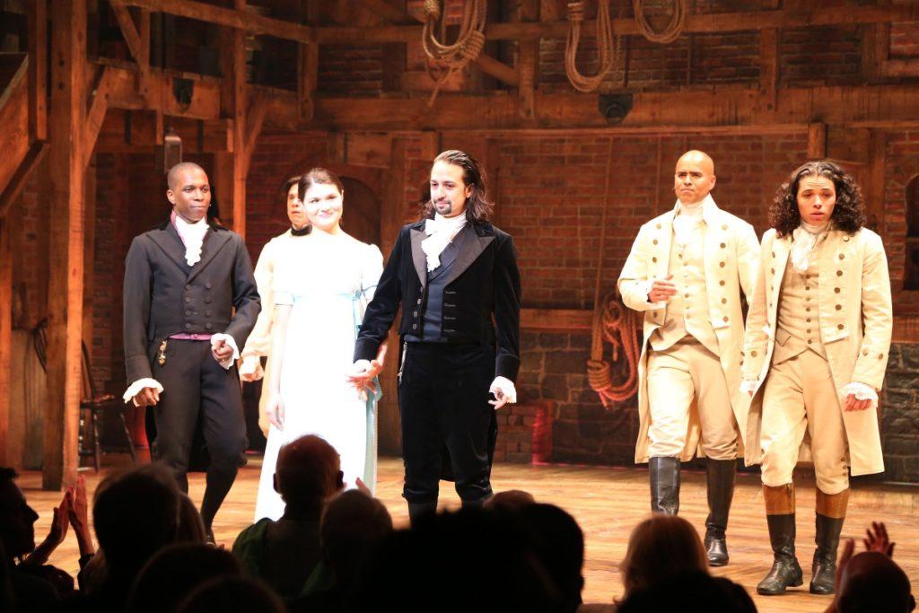 Opening night curtain call of 'Hamilton'
