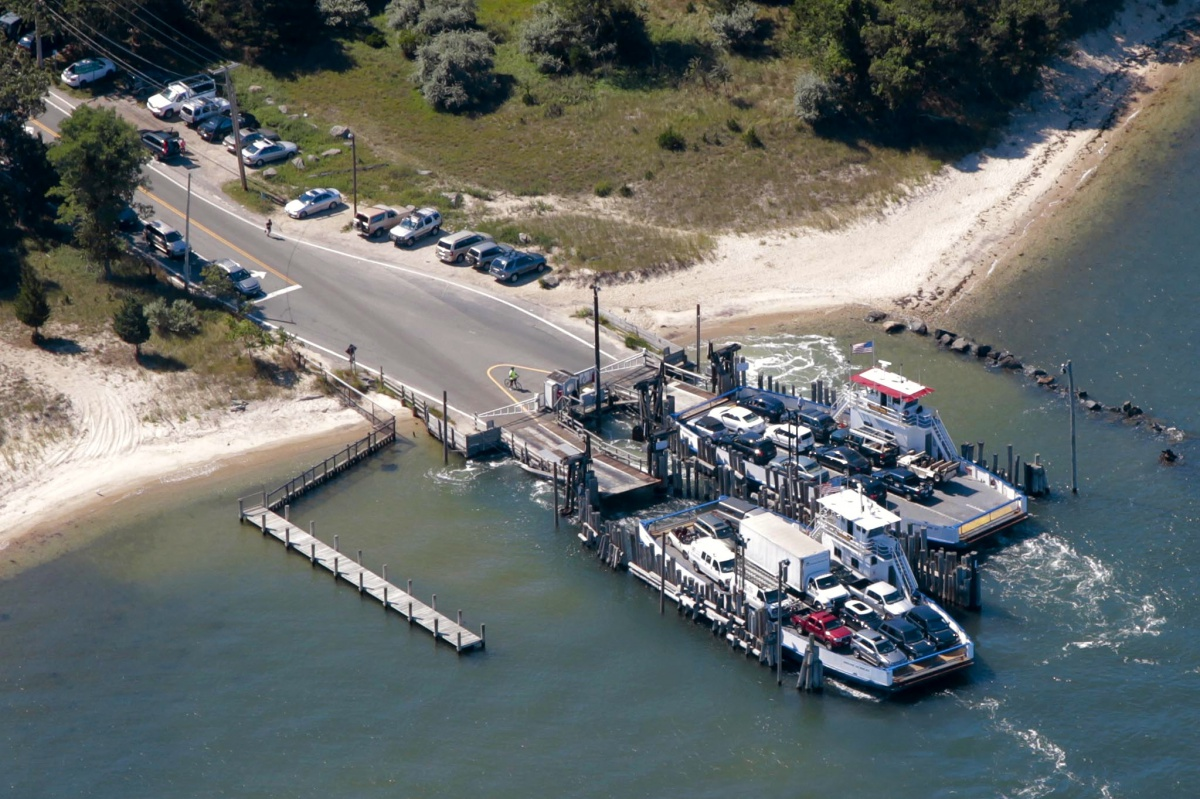 The South Ferry terminal on North Haven, which connects the South Fork to Shelter Island. Photo credit: Cully/EEFAS