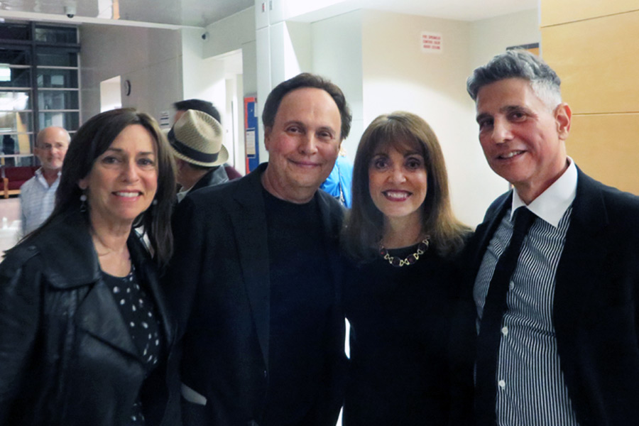 Barbara Anne Kirshner (center) with Billy Crystal, his wife Janice and their mutual friend Victor