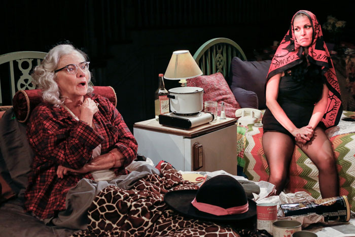 Betty Buckley and Rachel York as Big Edie and Little Edie in Grey Gardens at Bay Street Theater.
