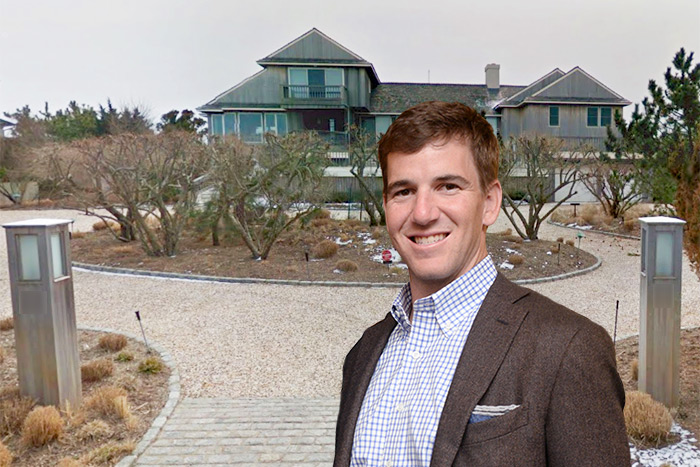 Eli Manning bought a home on Dune Road in Quogue