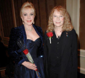 Dame Patricia Kennedy and Mia Farrow