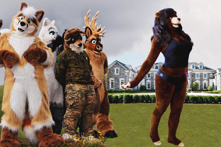 Furries at Hodgegrass Mansion