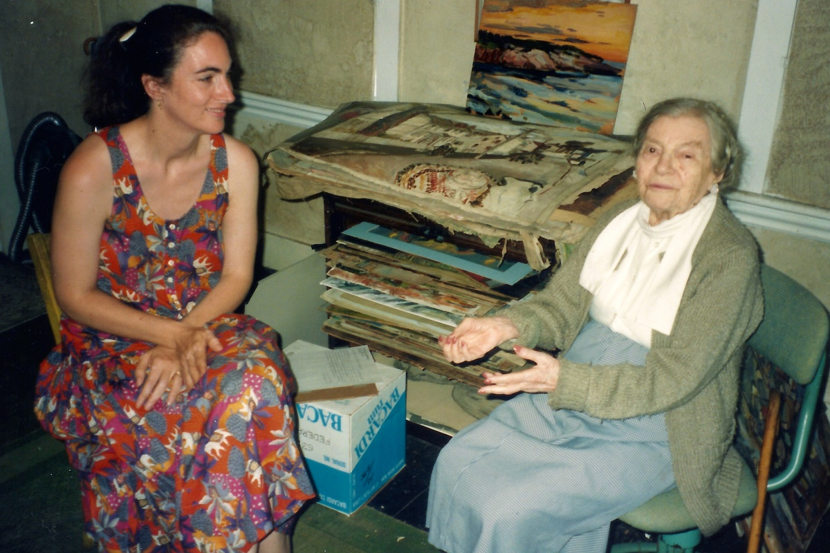 Gail Levin with Theresa Bernstein