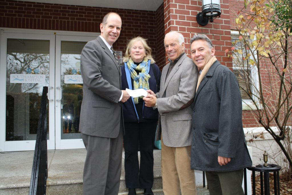 Southampton Hospital President and CEO Robert Chaloner, Showhouse operations manager Mary Lynch, and Showhouse Foundation board members Gary DePersia and Brian Brady.