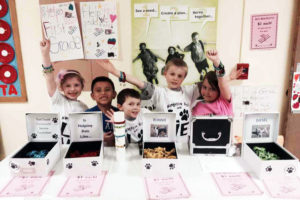 First graders at Hampton Bays Elementary School raised $800 for the Southampton Animal Shelter