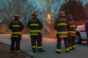 EHFD watches telephone pole burn while waiting for PSEG
