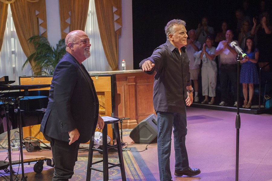 Billy Joel and Paul Reiser at the Bay Street Theater on July 20th, 2015.