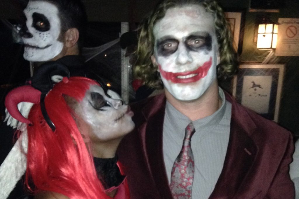 Harley Quinn and Joker at the Southampton Publick House Halloween party.