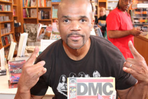 "Darryl ""DMC"" McDaniels autographed DMC #1 and posed for photos with fans at BookHampton."