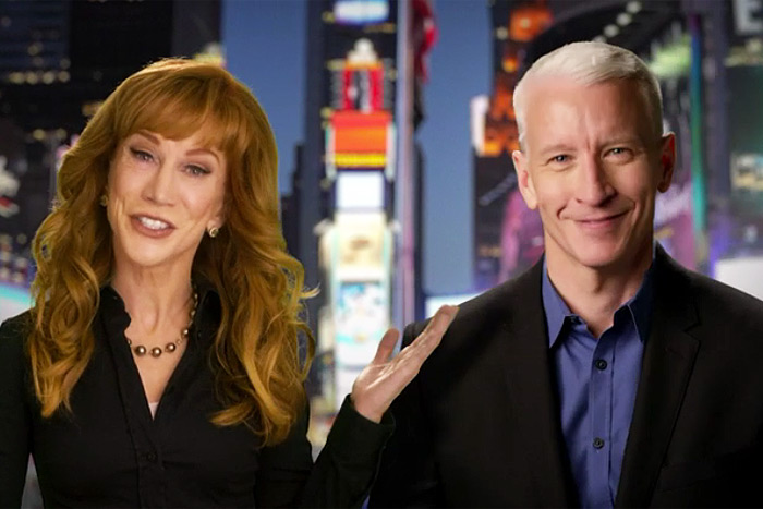 Kathy Griffin and AndersonCooper will broadcast New Years Eve Live 2016 on CNN Thursday