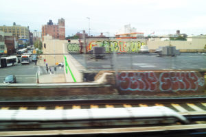 View from the LIRR Cannonball train