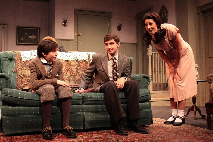 """Christopher Darrin, Jamie Baio and Rebecca Edana in """"Lost in Yonkers"""""""