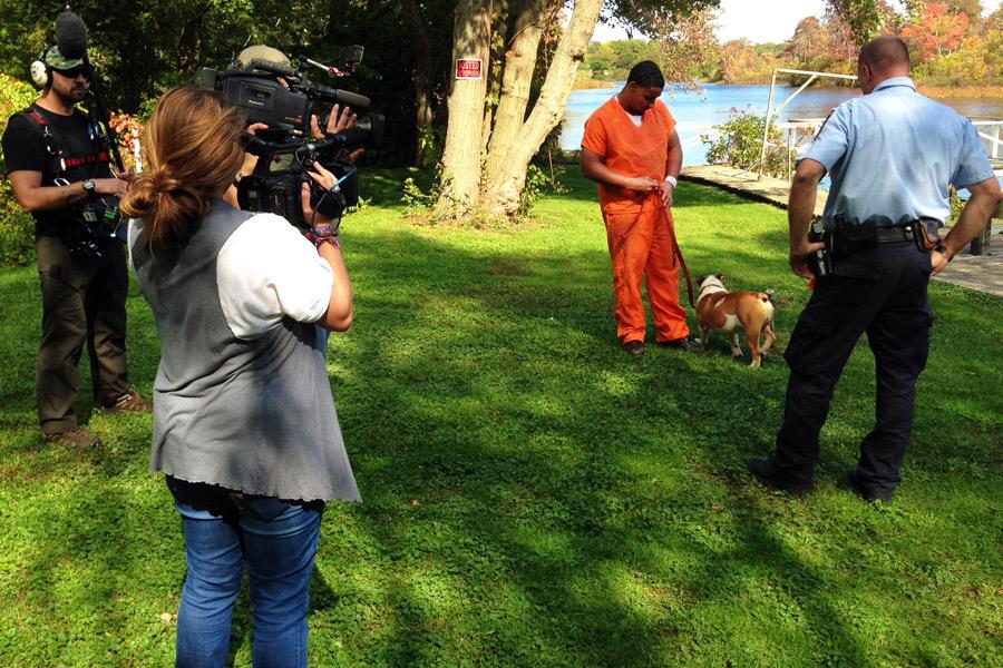 "MSNBC films ""Lockup"" at Kent Animal Shelter"