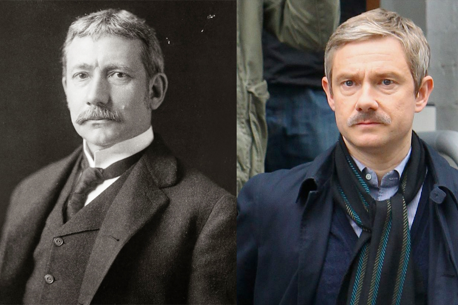 Elihu Root, left, and Martin Freeman.