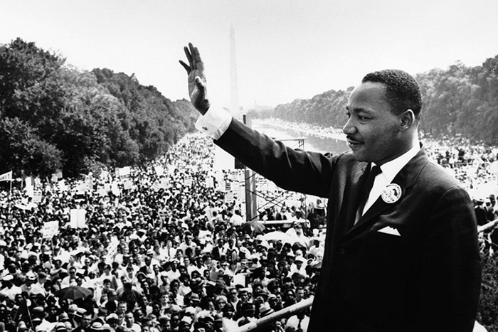 """Martin Luther King Jr. prepares to deliver his famous """"I Have a Dream"""" speech in 1963"""