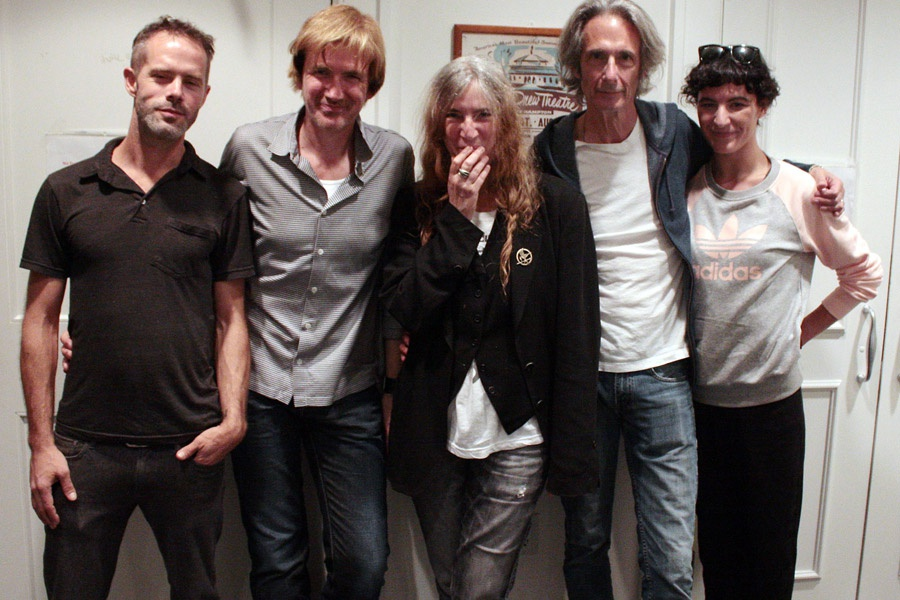 Patti Smith and her band at Guild Hall
