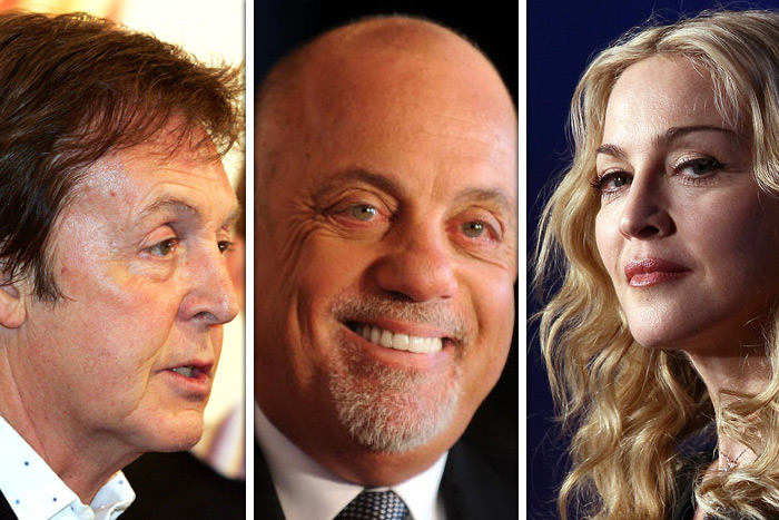 Paul McCartney, Billy Joel, Madonna