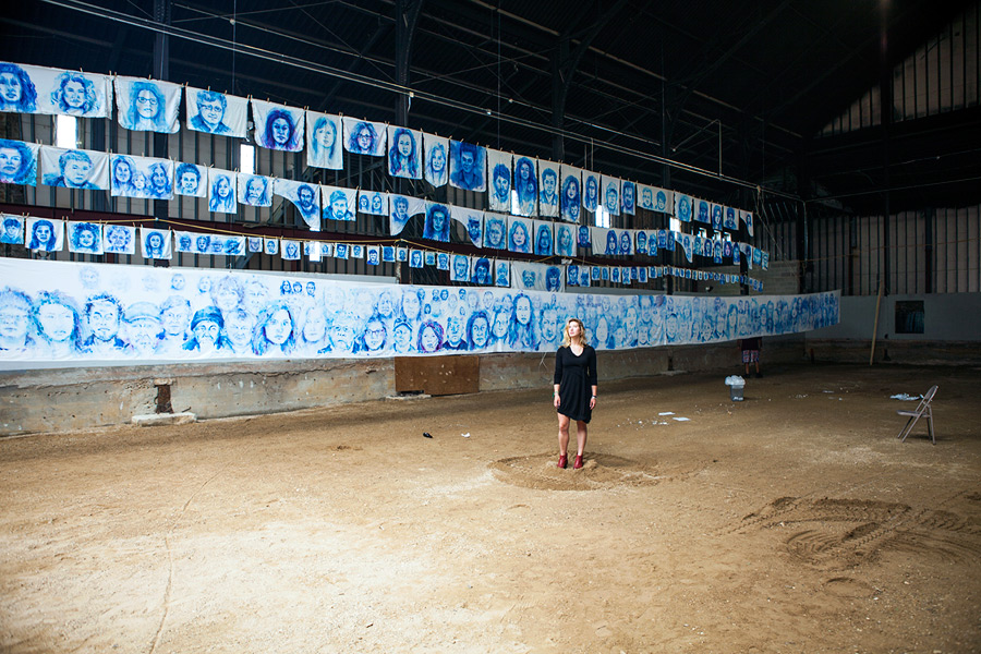 "Aubrey Roemer displays phase II of ""Leviathan: The Montauk Portrait Project"""