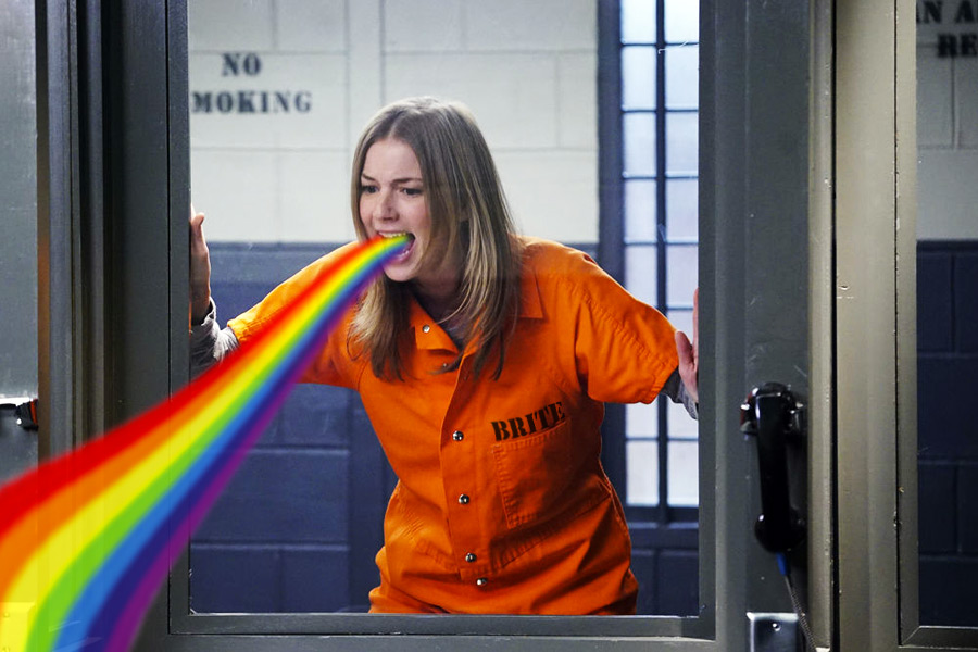 Revenge Season 4 Epidsode 22 Plea Emily gets her Rainbows on