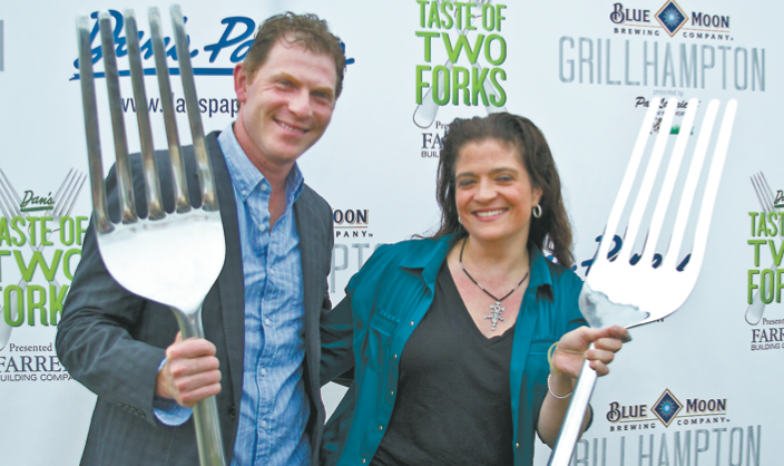 Dan's Taste of Two Forks Host Chef Bobby Flay and emcee Alex Guarnaschelli
