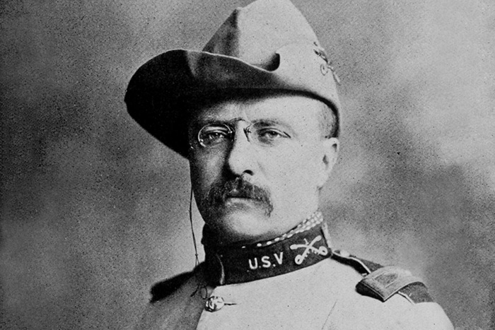 Teddy Roosevelt in military garb