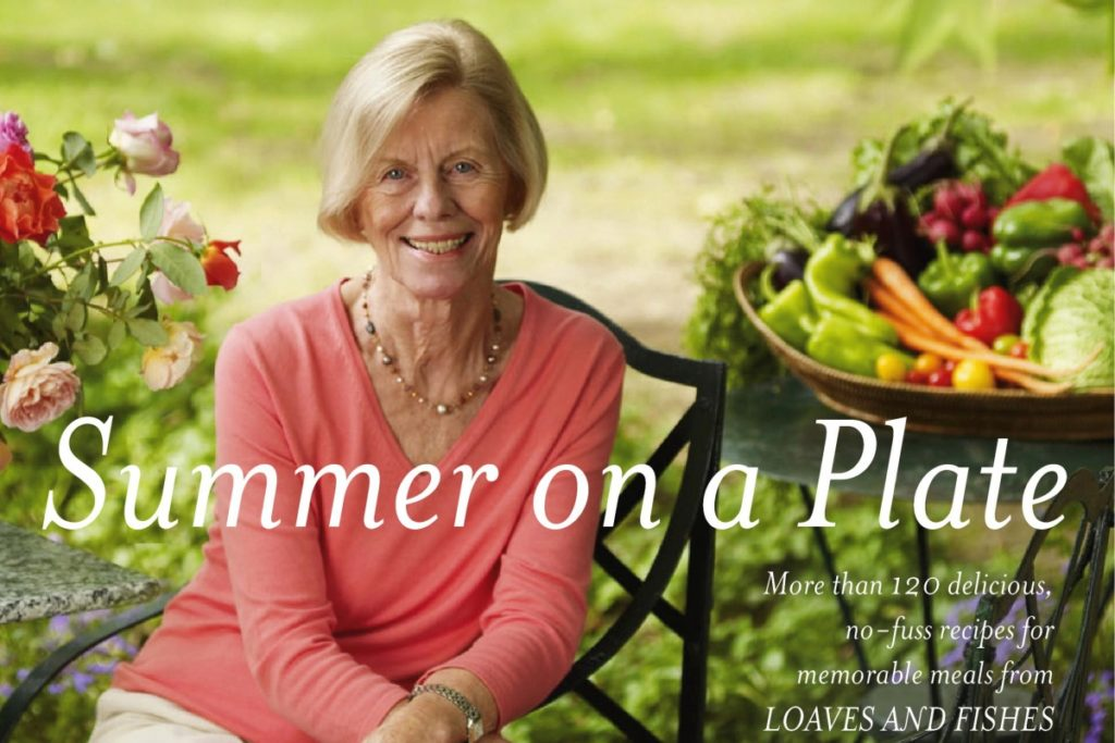 "Anna Pump on the cover of her book ""Summer on a Plate."""