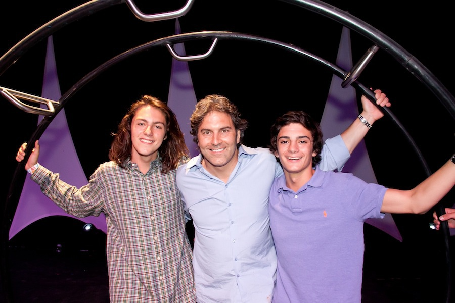 Michael Wudyka and his sons