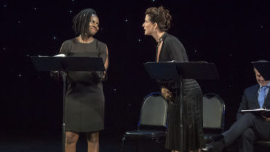 """A reading of """"The Cocktail Party Effect"""" during the 2017 New Works Festival at the Bay Street Theater in Sag Harbor, New York on Friday, April 28th, 2017"""