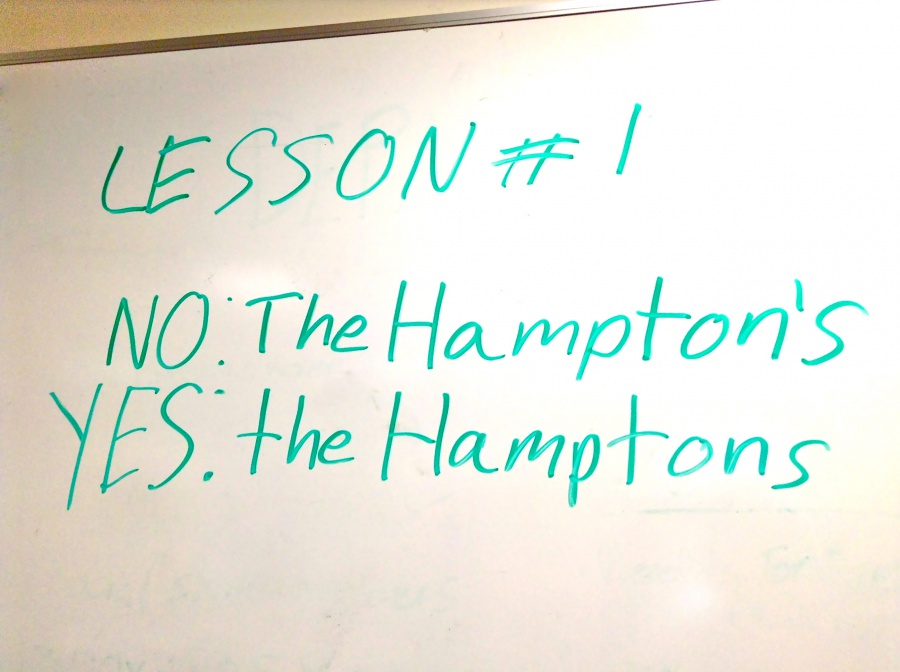 Hamptons Spelling and Grammar The Hamptons