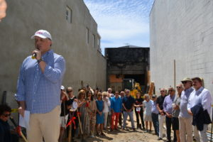 Sag Harbor Partnership President Nick Gazzolo says a few words